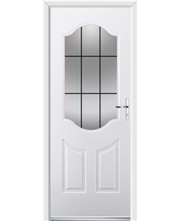 Ultimate Georgia Rockdoor in White with Square Lead