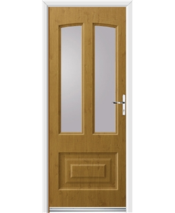 Ultimate Illinois Rockdoor in Irish Oak with Glazing