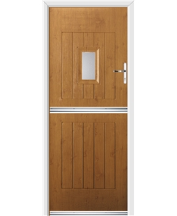 Ultimate Stable Spy Rockdoor in Irish Oak with Glazing