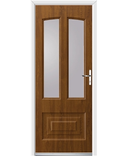 Ultimate Illinois Rockdoor in Light Oak with Glazing
