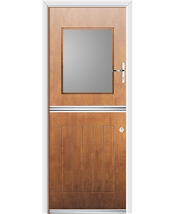 Ultimate Stable View Rockdoor in Light Oak with Glazing