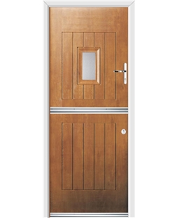 Ultimate Stable Spy Rockdoor in Light Oak with Glazing