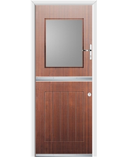 Ultimate Stable View Rockdoor in Mahogany with Glazing