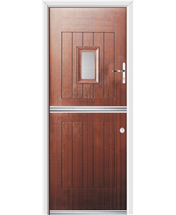 Ultimate Stable Spy Rockdoor in Mahogany with Glazing