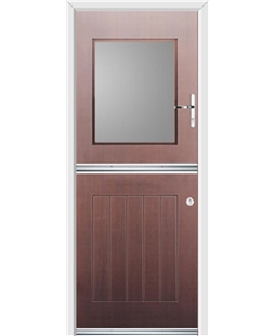 Ultimate Stable View Rockdoor in Rosewood with Glazing