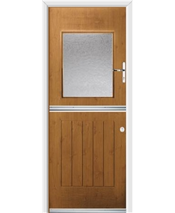 Ultimate Stable View Rockdoor in Irish Oak with Gluechip Glaze