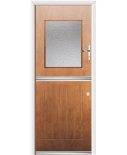 Ultimate Stable View Rockdoor in Light Oak with Gluechip Glazing