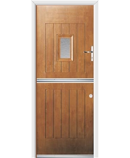 Ultimate Stable Spy Rockdoor in Light Oak with Gluechip Glazing