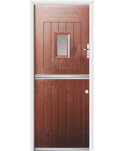 Ultimate Stable Spy Rockdoor in Mahogany with Gluechip Glazing