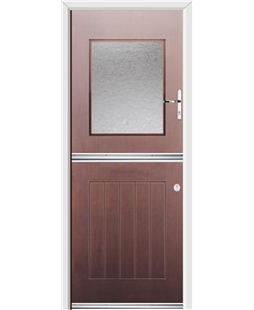 Ultimate Stable View Rockdoor in Rosewood with Gluechip Glazing