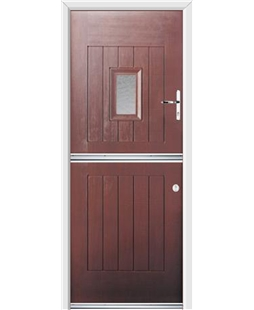 Ultimate Stable Spy Rockdoor in Rosewood with Gluechip Glazing