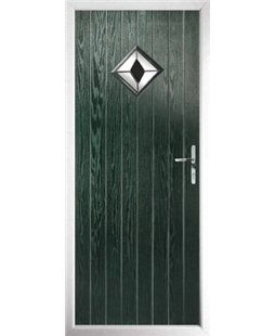The Reading Composite Door in Green with Black Diamond