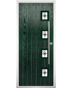 The Norwich Composite Door in Green with Black Fusion Ellipse