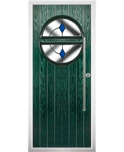 The Xenia Composite Door in Green with Blue Diamond