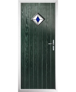 The Reading Composite Door in Green with Blue Diamond