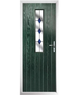 The Sheffield Composite Door in Green with Blue Diamonds
