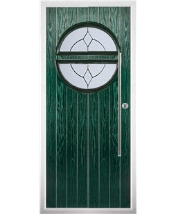 The Xenia Composite Door in Green with Classic Glazing
