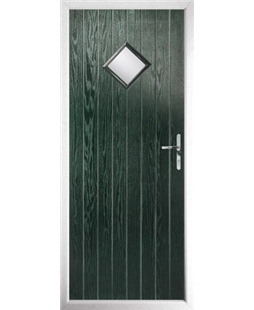 The Reading Composite Door in Green with Clear Glazing