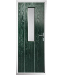 The Sheffield Composite Door in Green with Clear Glazing