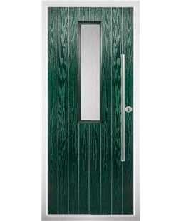 The York Composite Door in Green with Clear Glazing