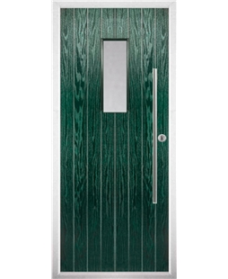 The Zetland Composite Door in Green with Clear Glazing