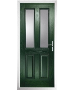 The Cardiff Composite Door in Green with Glazing