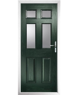 The Oxford Composite Door in Green with Glazing