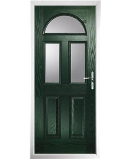 The Glasgow Composite Door in Green with Clear Glazing