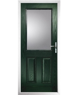 The Farnborough Composite Door in Green with Clear Glazing