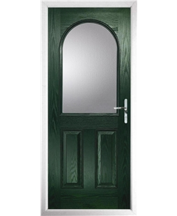 The Edinburgh Composite Door in Green with Clear Glazing