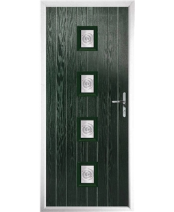 The Uttoxeter Composite Door in Green with Bullion