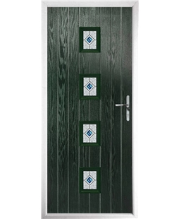 The Uttoxeter Composite Door in Green with Daventry Blue