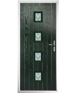 The Uttoxeter Composite Door in Green with Cameo