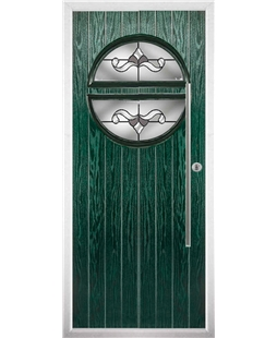 The Xenia Composite Door in Green with Crystal Bohemia Frost