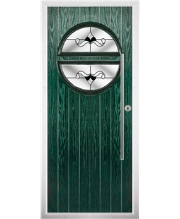 The Xenia Composite Door in Green with Black Crystal Bohemia