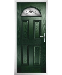 The Derby Composite Door in Green with Crystal Bohemia Frost