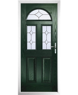 The Glasgow Composite Door in Green with Crystal Diamond