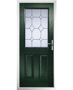 The Farnborough Composite Door in Green with Crystal Diamond
