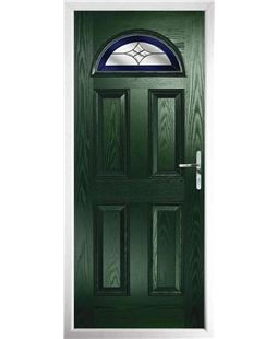 The Derby Composite Door in Green with Blue Crystal Harmony
