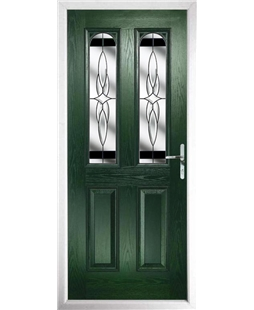 The Aberdeen Composite Door in Green with Black Crystal Harmony