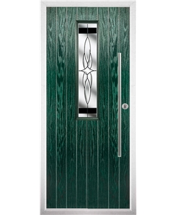 The York Composite Door in Green with Black Crystal Harmony