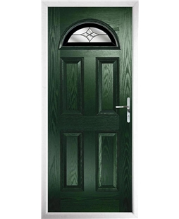 The Derby Composite Door in Green with Black Crystal Harmony