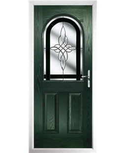 The Edinburgh Composite Door in Green with Black Crystal Harmony