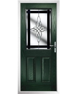 The Farnborough Composite Door in Green with Black Crystal Harmony