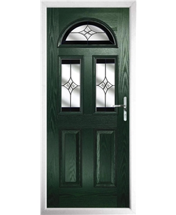The Glasgow Composite Door in Green with Black Crystal Harmony