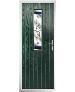 The Sheffield Composite Door in Green with Blue Crystal Harmony