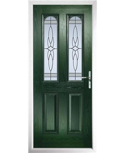 The Aberdeen Composite Door in Green with Crystal Harmony Frost