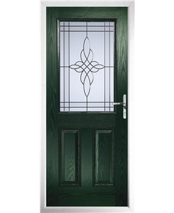 The Farnborough Composite Door in Green with Crystal Harmony Frost