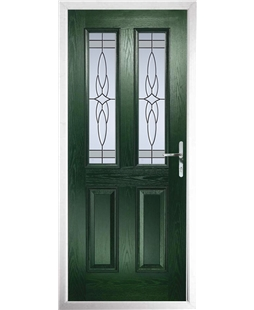The Cardiff Composite Door in Green with Crystal Harmony Frost