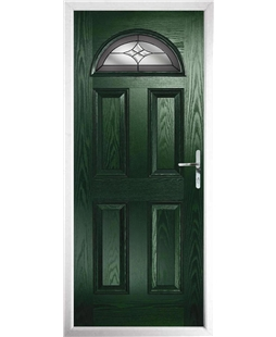 The Derby Composite Door in Green with Crystal Harmony Frost